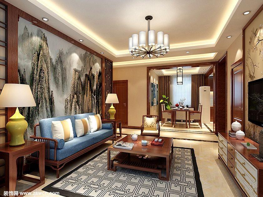 新中式风格-【中央悦城】-魅力清新三居-石家庄实创装饰
