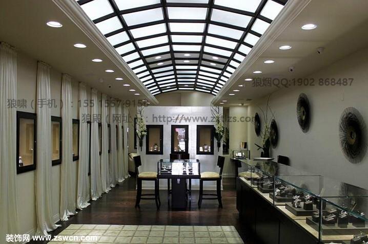 郑州珠宝店装修设计橱窗类型