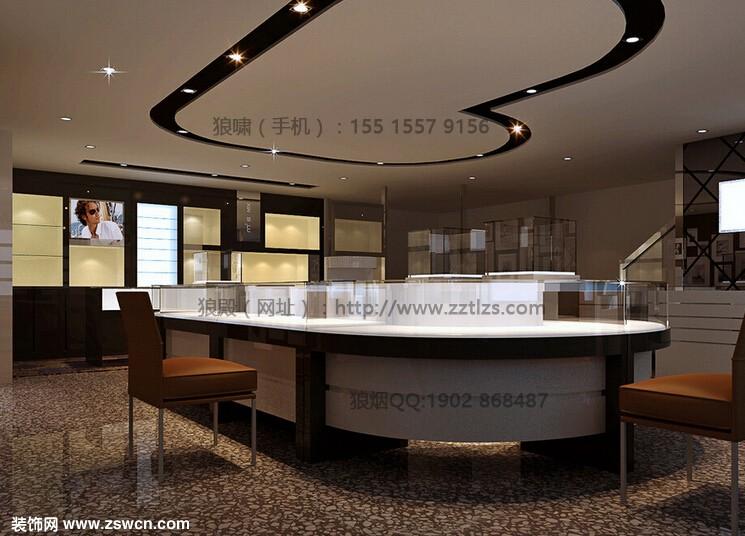 珠宝店设计效果图-郑州珠宝店装修设计整体色调的把控