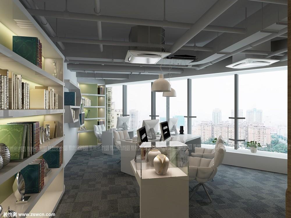 云南省昆明市呈贡区上海东盟办公室装修设计效果图鉴赏