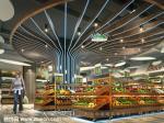 供长沙超市装修客户参考的百货超市装修设计效果图:生福百货甲子店