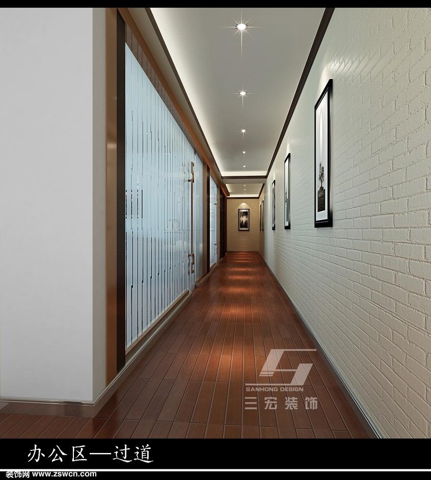 【三宏装饰】中式风办公室装修设计