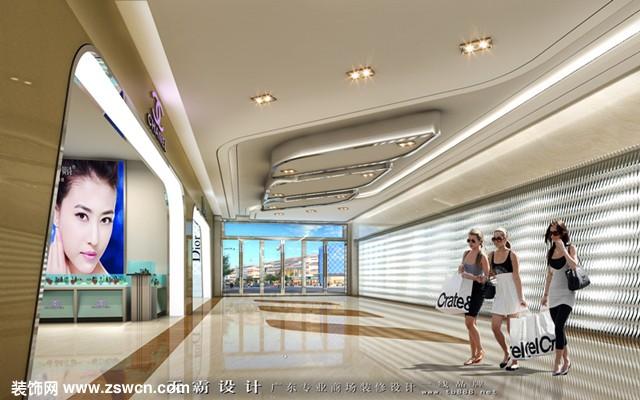 内蒙古城市综合体设计可参考广东天霸设计项目设计效果图:华丽广场