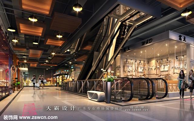 天霸设计城市综合体装修设计效果图最新室内灯光设计