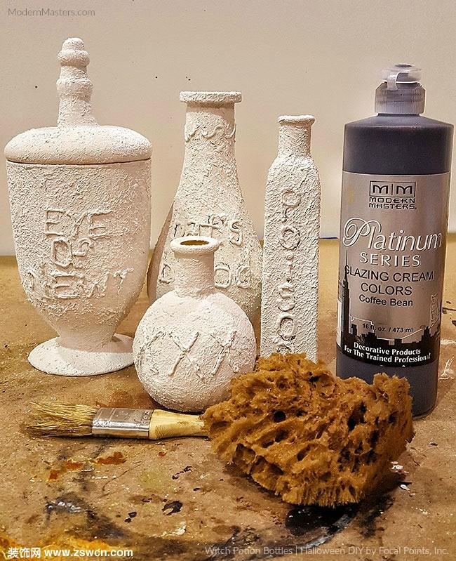 ModernMastersMM艺术涂料女巫瓶的改造