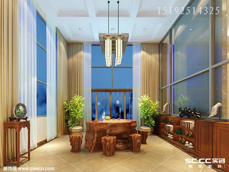 青特赫山别墅装修,210平联排欧式装修设计