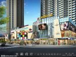 最新城市综合体装修设计效果图:湖北万象国际广场外立面效果图