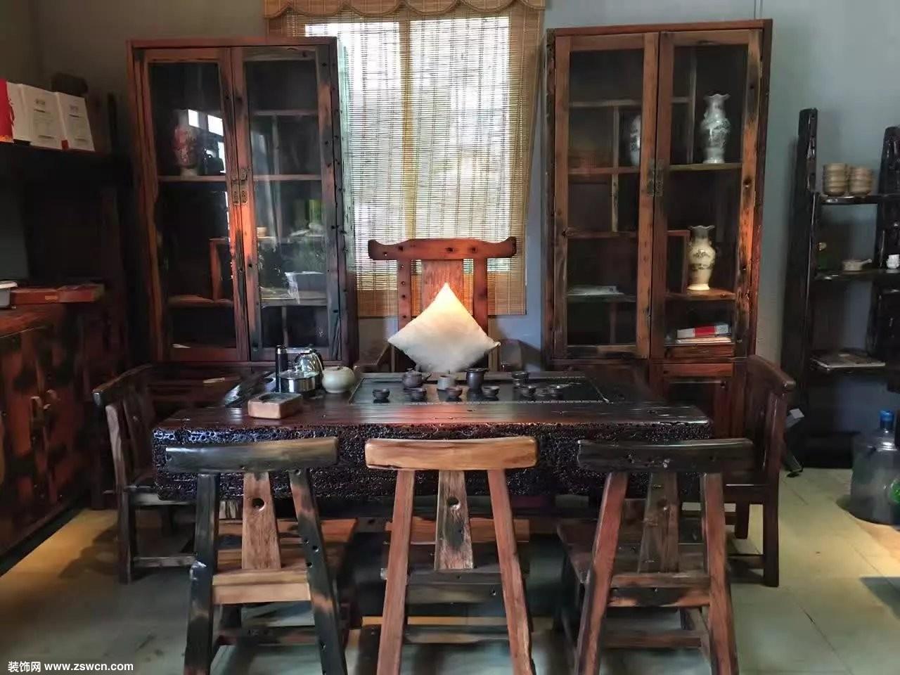 船木茶桌 在历史沧桑的浓缩中让过去与现在的时光重合
