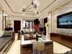 新中式风格三居室-【金域华府】-简单家-石家庄实创装饰