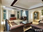 别墅装修案例,16万打造青特花溪地欧式三居室168平装修设计|青岛实创装饰