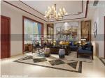 上叠别墅装修案例,银盛泰德郡185平上叠新中式风格设计|青岛实创装饰