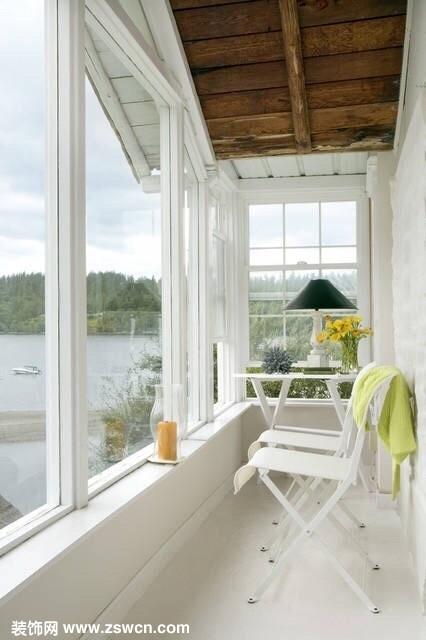 试试把封闭式阳台设计成一道风景线,美腻了