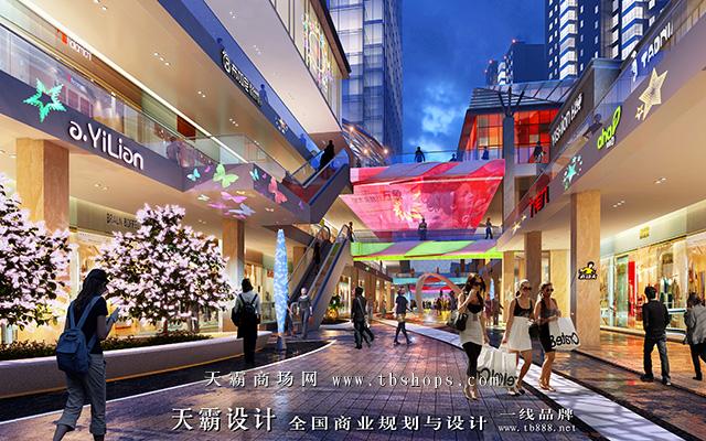 天霸设计步行街设计效果图与需求防城港步行街设计的客户分享