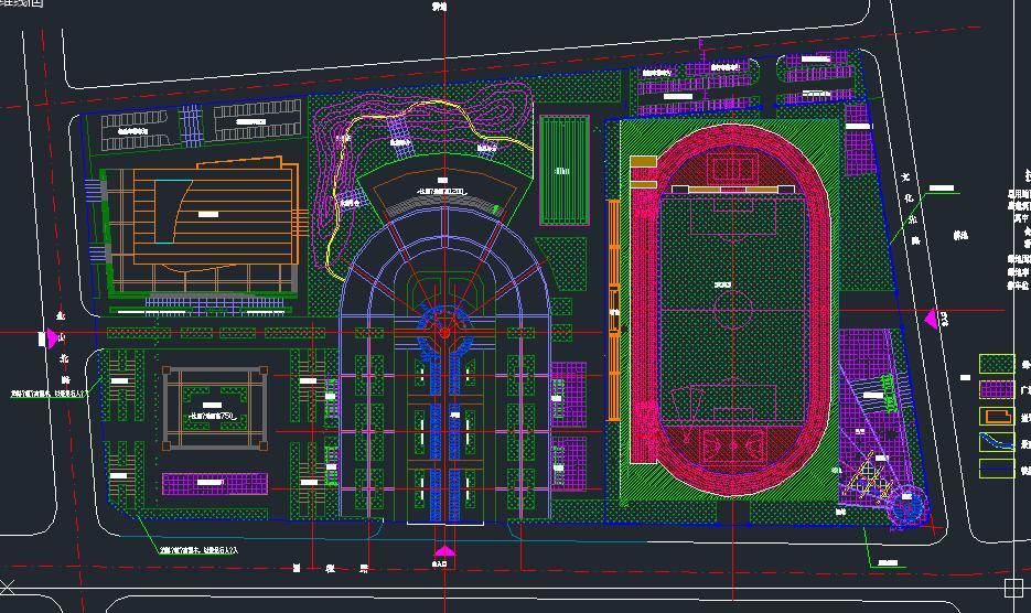 素材下载 cad案例施工图 园林景观施工图 > 健身广场规划设计cad平面