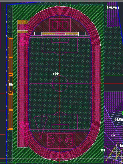 施工图 > 健身广场规划设计cad平面图 标准游泳池cad 标准足球场cad