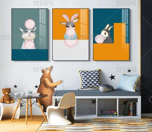我图网儿童房装饰画,真是太有爱了!