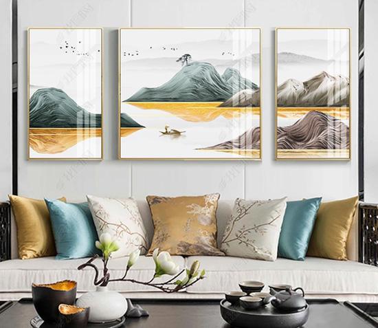 客厅挂上这些山水画,旺财转运寓意好!
