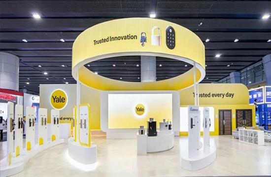 百年品牌实力见证 耶鲁智能锁在建博会大展风采